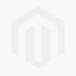 Emerald-Cut Blue Topaz and Diamond Halo Necklace Set in 14k White Gold (7x5mm)